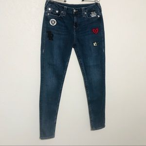 True Religion skinny jeans w/patches